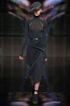 Ola Rudnicka - Donna Karan 2014 Sonbahar-Kış Koleksiyonu