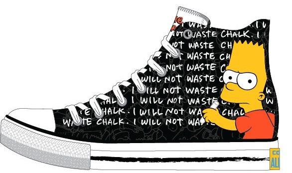 Simpsons Ailesi Converse'lerde