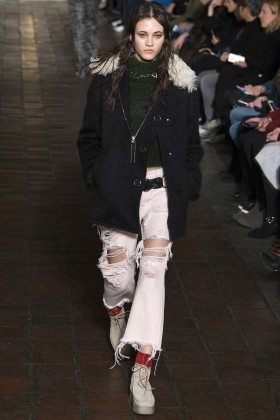 Greta Varlese - Alexander Wang Fall 2016 Ready to Wear