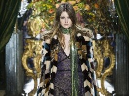 Emma Harris - Roberto Cavalli Fall 2016 Ready-to-Wear