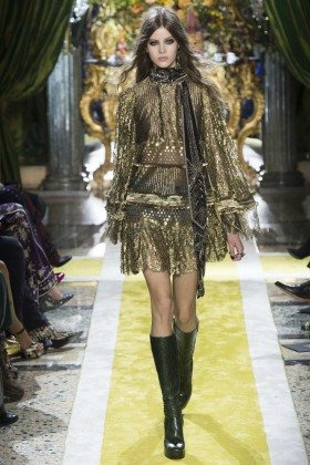 Bara Podzimkova - Roberto Cavalli Fall 2016 Ready-to-Wear