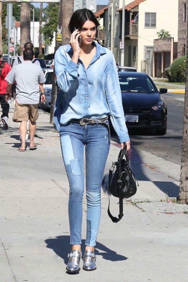 Kendall Jenner'ın skinny jean stili