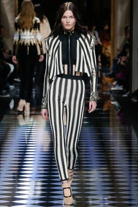 Katlin Aas - Balmain Fall 2016 Ready-to-Wear