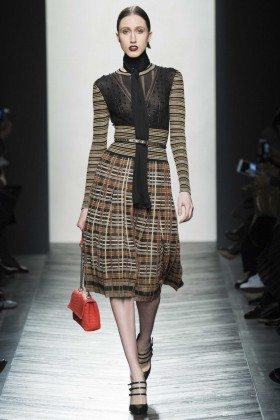 Anna Cleveland - Bottega Veneta Fall 2016 Ready-to-Wear