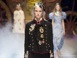 Harleth Kuusik - Dolce & Gabbana Fall 2016 Ready-to-Wear