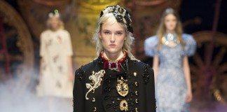 Harleth Kuusik - Dolce & Gabbana Fall 2016 Ready-to-Wear