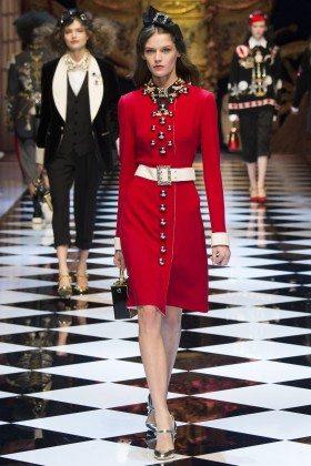 Angel Rutledge - Dolce & Gabbana Fall 2016 Ready-to-Wear
