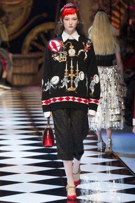 Allyson Chalmers - Dolce & Gabbana Fall 2016 Ready-to-Wear