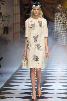Leila Goldkuhl - Dolce & Gabbana Fall 2016 Ready-to-Wear