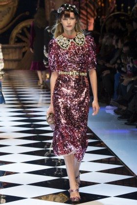 Natalie Ludwig - Dolce & Gabbana Fall 2016 Ready-to-Wear