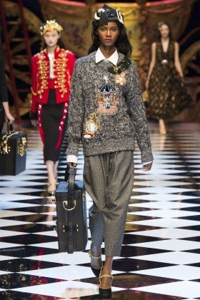 Tami Williams - Dolce & Gabbana Fall 2016 Ready-to-Wear