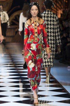 Alena Nurgaleeva - Dolce & Gabbana Fall 2016 Ready-to-Wear