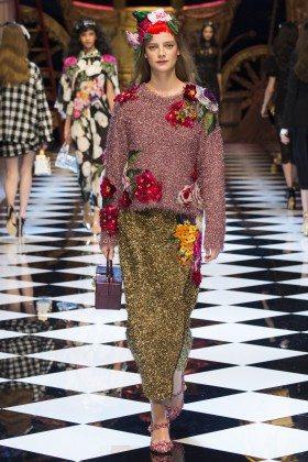 Ine Neefs - Dolce & Gabbana Fall 2016 Ready-to-Wear