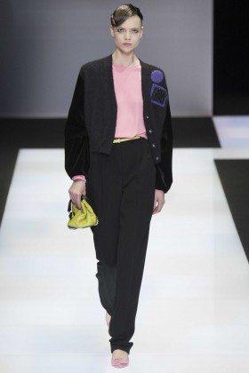 Olga Stephanova - Emporio Armani Fall 2016 Ready-to-Wear