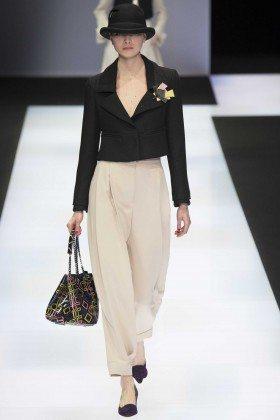 Kim Valerie Jaspers - Emporio Armani Fall 2016 Ready-to-Wear