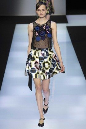 Kristina Pet - Emporio Armani Fall 2016 Ready-to-Wear