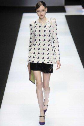 Magdalena Havlickova - Emporio Armani Fall 2016 Ready-to-Wear