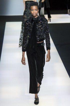Maria Borges - Giorgio Armani Fall 2016 Ready-to-Wear
