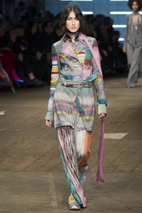 Anna Cleveland - Missoni Fall 2016 Ready-to-Wear