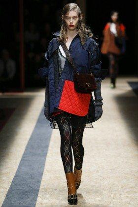 Ondria Hardin - Prada Fall 2016 Ready-to-Wear