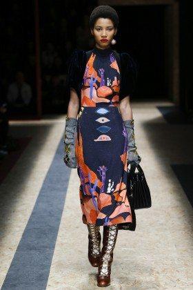 Lineisy Montero - Prada Fall 2016 Ready-to-Wear