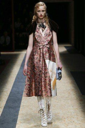 Rianne van Rompaey - Prada Fall 2016 Ready-to-Wear