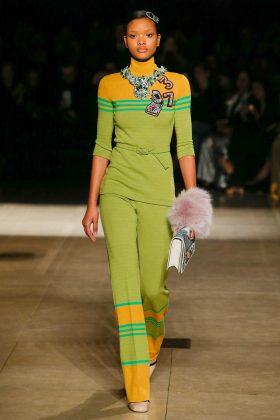 Iesha Hodges - Miu Miu Fall 2017 Ready-to-Wear