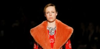 Edie Campbell - Miu Miu Fall 2017 Ready-to-Wear