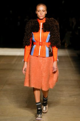Adwoa Aboah - Miu Miu Fall 2017 Ready-to-Wear
