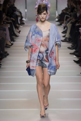 Chiara Frizzera - Armani Privé Spring 2018 Couture