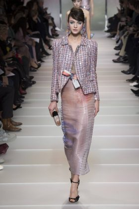 Alina Kozyrka - Armani Privé Spring 2018 Couture